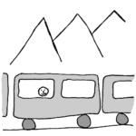 Train story -- Illustration by Börkur Sigurbjörnsson