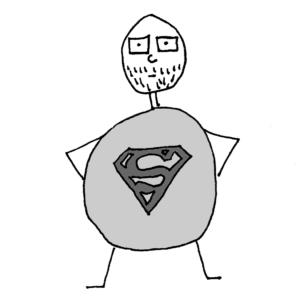 Superhuman -- Illustration by Börkur Sigurbjörnsson