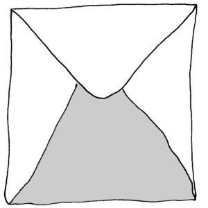 The letter -- Illustration by Börkur Sigurbjörnsson