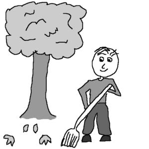The street cleaner -- Illustration by Börkur Sigurbjörnsson