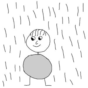 Downpour -- Illustration by Börkur Sigurbjörnsson