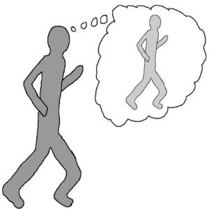 Chasing a dream -- Illustration by Börkur Sigurbjörnsson