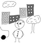 Energy transfer -- Illustration by Börkur Sigurbjörnsson