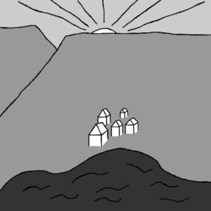 Norðan nokkurs staðar - Myndskreyting Börkur Sigurbjörnsson